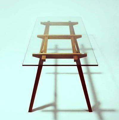 mesa comedor escritorio vidrio moderno diseño retro vintage