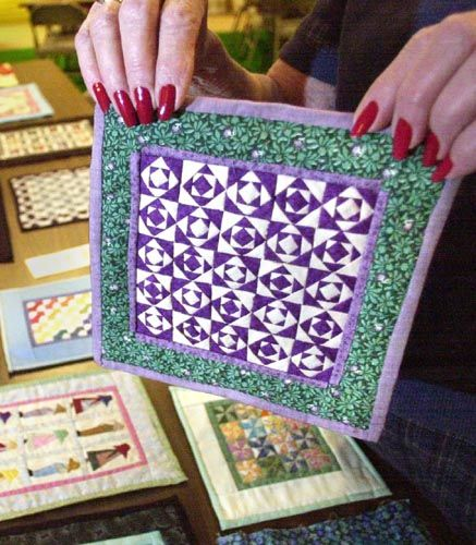 miniature quilts | Miniature quilts by Bella Fansler will be on display this month at the ...