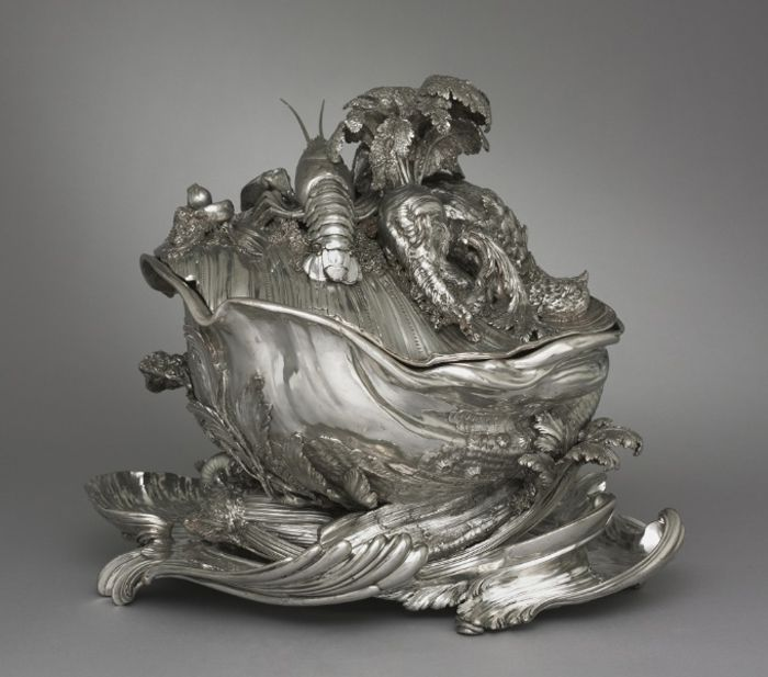 """A tureen designed by Juste-Aurele Meissonnier and made by Pierre-Francois Bonnestrenee and Henrey Adnet in 1735-1740. The forms, while intended as representational, are fantastic and strangely digital. "" (SEE MY 18th Century Who's Who board for more information on Meissonier) ~ Leah Marie Brown"
