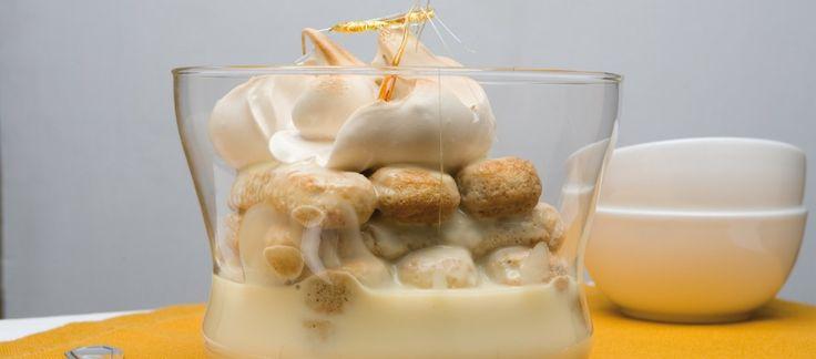 Zuppa inglese con spumoni al caramello