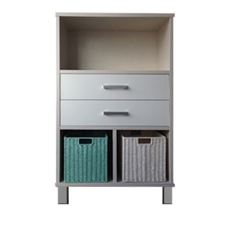 URBAN 6 Cube Vertical (Bliss Shitake) Double Drawers (Snowdrift White)