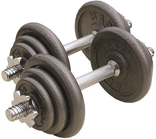 Fitness Mad Bodybuilding Exercise Gym Strength Training Dumbbell Set 20kg 25.4mm by Fitness Mad. Fitness Mad Bodybuilding Exercise Gym Strength Training Dumbbell Set 20kg 25.4mm.