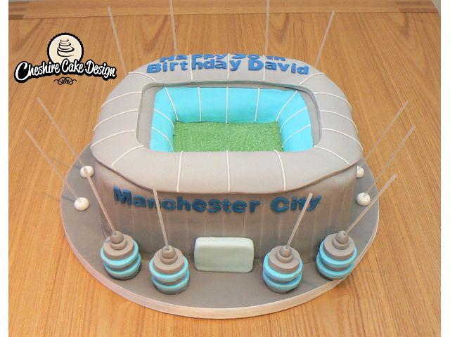 Manchester city ground cake