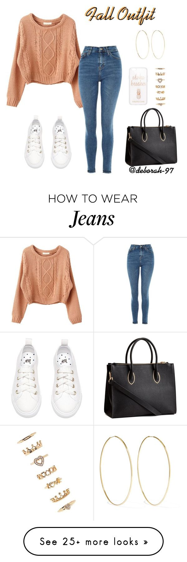 """""""Fall Outfit #8"""" by deborah-97 on Polyvore featuring Topshop, Forever 21, Magda Butrym and H&M"""