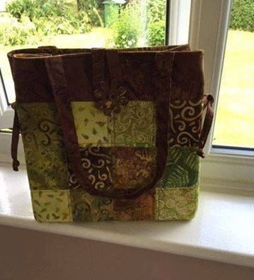 Another variation on the classic Shades of Grey bag, this time using greens and browns.