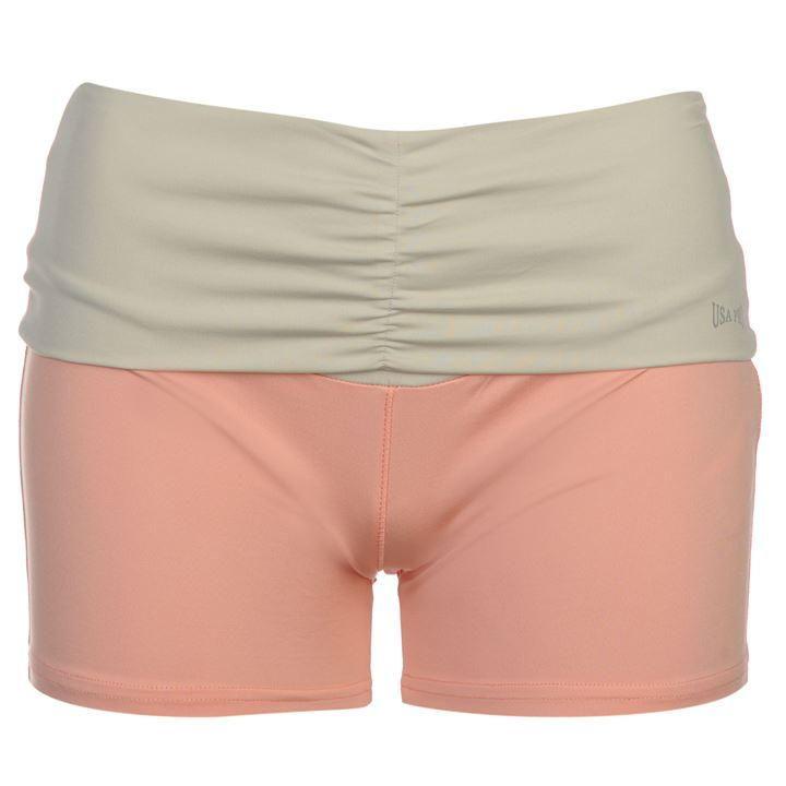 USA Pro | USA Pro Fold Over Shorts Ladies  | Ladies Training Shorts