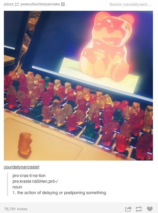 My college life in a nutshell.  HAHaha a conference of gummy bears. I just laughed at this for five minutes.
