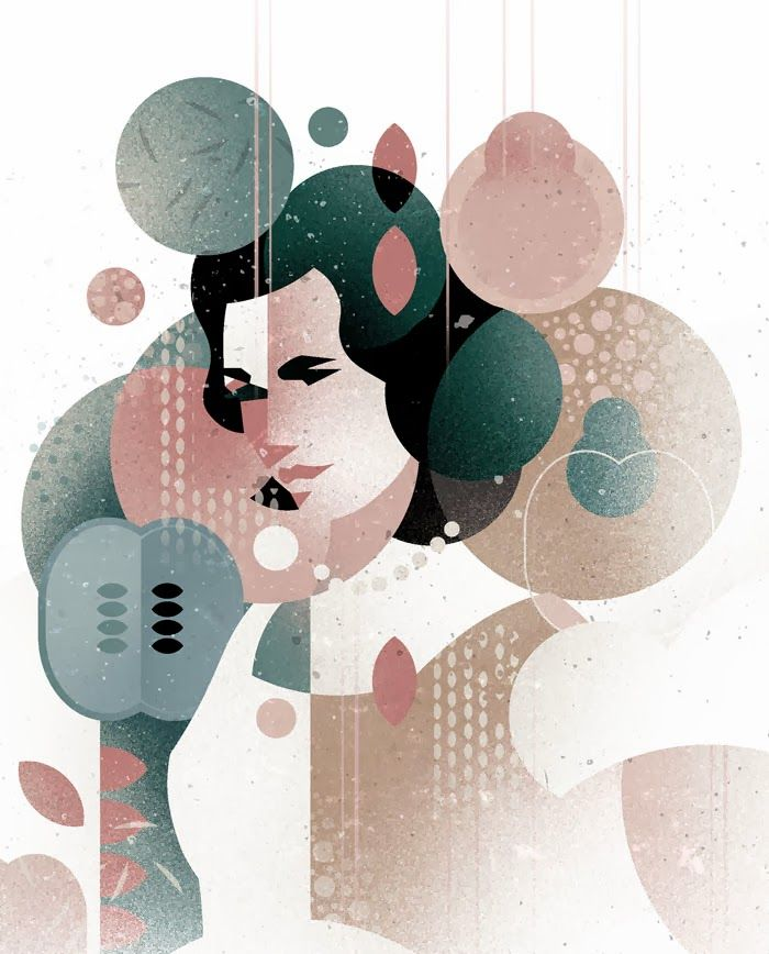 Illustration by Dieter Braun - Browntown #illustration #woman #face #geometric #minimal #character