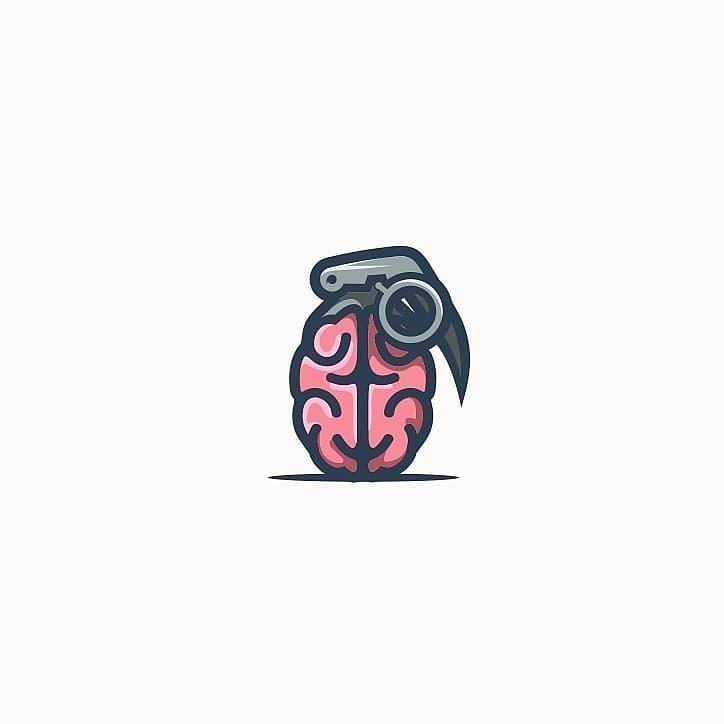brain bomb logo design