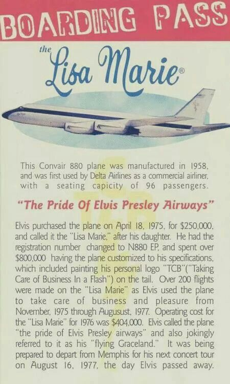 {*Elvis s plane the History of the Lisa Marie*}