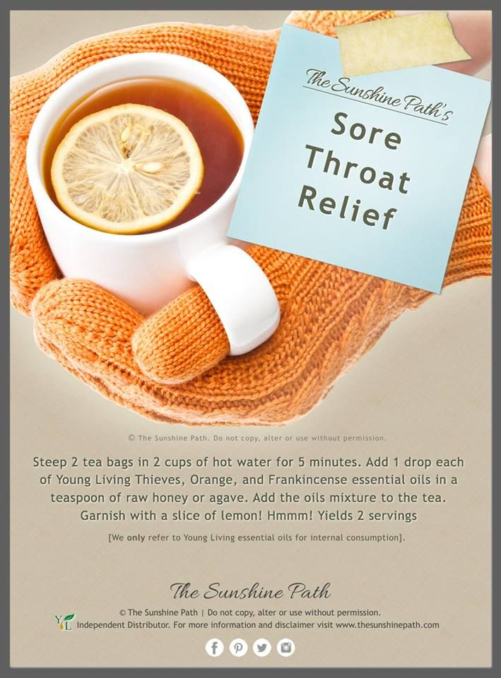 What's better than a good ol' cup of tea for a nagging sore throat or hacking cough? Since oils and water don't mix, we add the essential oils to agave or raw honey first, and then add this to the tea. We only refer to ingesting Young Living essential oils in all our posts!  What essential oils brighten up your teacup?  www.thesunshinepath.com