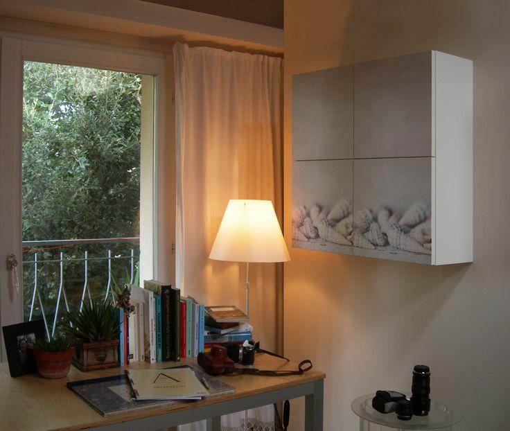collezione Gli Scartati mobiletto 80x80 4 ante (decoro Conchiglie) studio IDEA - Pesaro