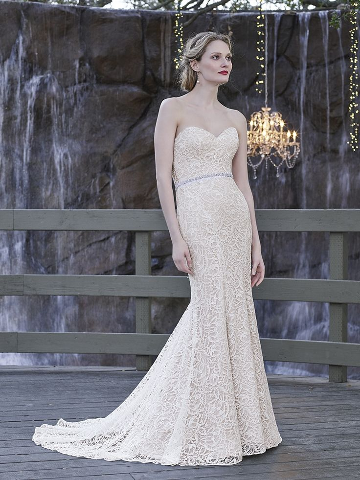 This Strapless Gown Looks Just As Soft On The Eyes It Feels To Touch Slimming Wraps Th Find Pin And More Casablanca Bridal