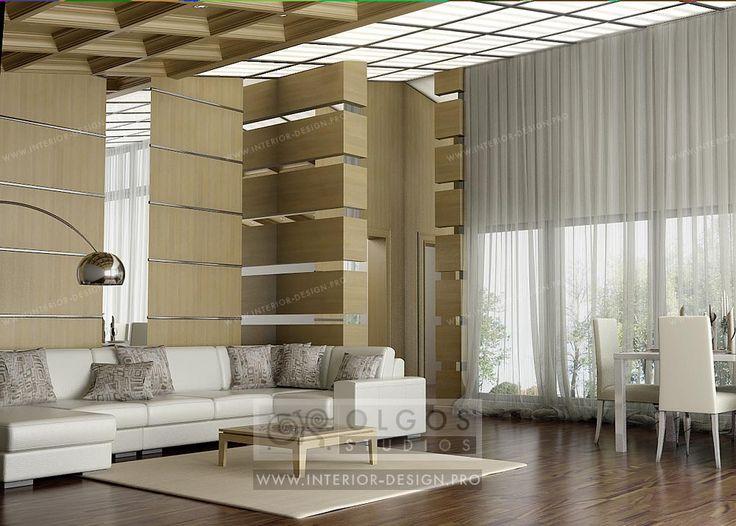 Living room design in modern house http://interior-design.pro/en/house-interior-design