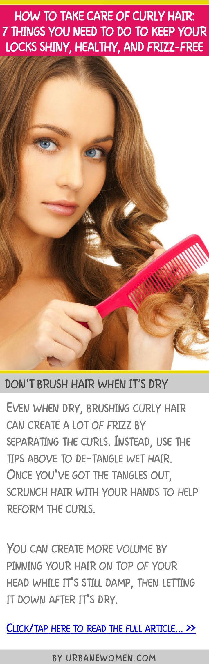 How To Take Care Of Curly Hair 7 Things You Need To Do To