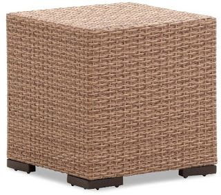Strathwood Griffen All-Weather Wicker Side Table, Natural | Strathwood Griffen | Strathwood Outdoor Furniture