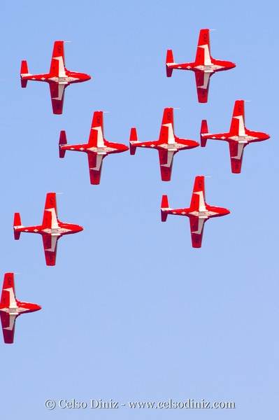 Canadian RCAF Snowbirds Precision flying team - a number of shows at various locations during summer months (google it)