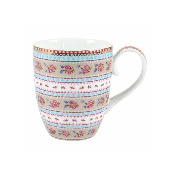The Pip Studio Khaki Ribbon Rose Mug is available at Gifts and Collectables online - we offer great service and same day dispatch on orders placed before 3pm