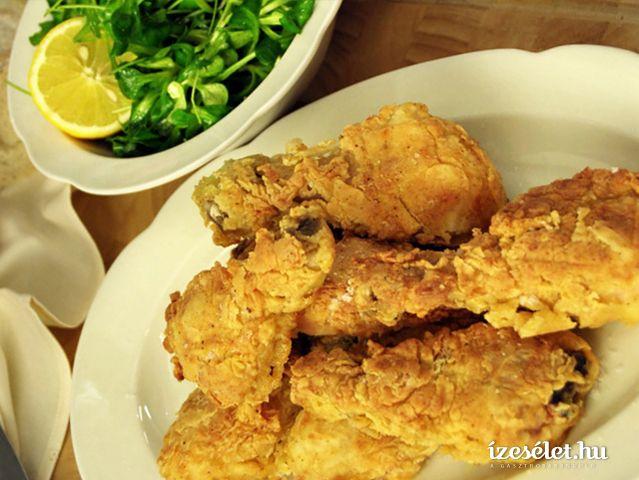 Szuperropogós fűszeres rántott csirke