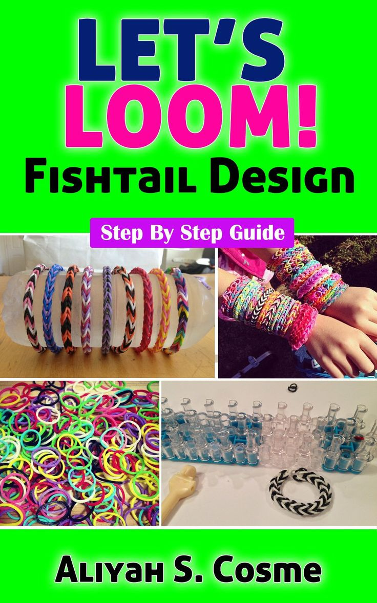 how to make loom bands step by step fishtail