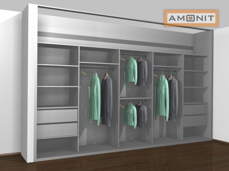 Ukázka vnitřního uspořádání vestavěné skříně - 25. varianta
