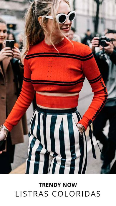 TRENDY NOW: listras coloridas.