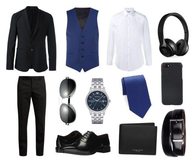 """Suit"" by ricardo-rodriguez-hernandez on Polyvore featuring Gucci, Kenneth Cole, Emporio Armani, Yves Saint Laurent, Massimo Matteo, Brooks Brothers, Michael Kors, Beats by Dr. Dre, Shinola y Dockers"