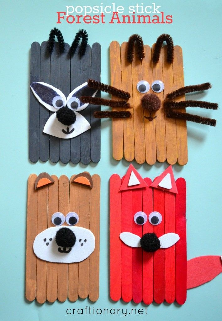 DIY Craft: Popsicle stick animals mess-free fun for kids - Craftionary