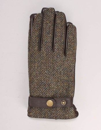 Gibson Brown Tweed Leather Gloves