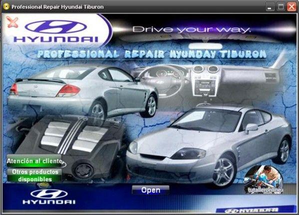 Manual De Taller Y Reparacion Profesional Hyundai Tiburon 2003 2008 Hyundai Tiburon Reparacion Taller