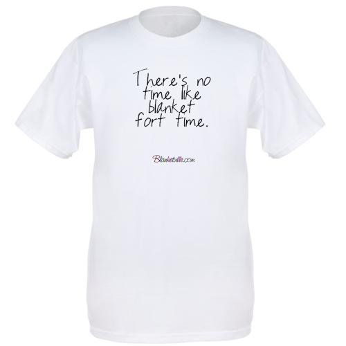 There's no time like blanket fort time Fruit of the Loom Premium Heavyweight T-shirt
