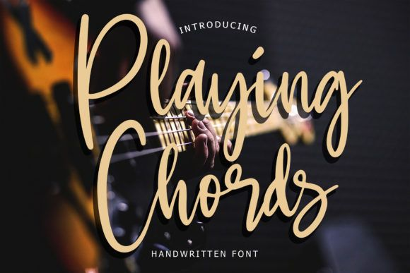 Playing Chords Font By Formatikastd Creative Fabrica In 2020 Font Bundles Handwritten Fonts New Fonts