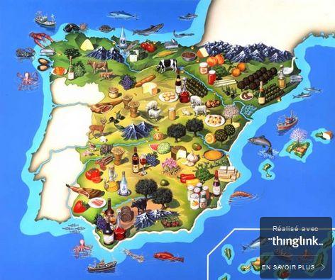 Avec cette carte interactive, faite avec thinglink, vous pourrez voyager virtuellement et découvrir les recettes des plats typiques espagnols. Passez la souris sur image, des points rouges vont apparaitre et les liens vidéos aussi. Thinglink est un logiciel...