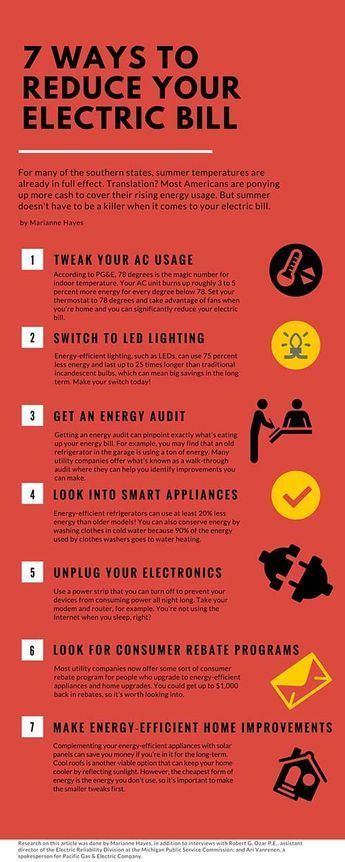 7 Ways to Reduce Your Electric Bill. Try these steps and you could save a lot of money on your utility bills. #utilitybills