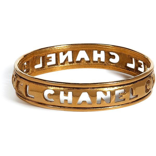 Vintage 1980's Chanel Bangle #Bangle #ChanelGolden 1980S, 1980S Cut, Words Bangles, Chanel Bangles, Jewelry Golden, Chanel Vintage, Cut Words, Vintage Jewelry, Vintage Chanel