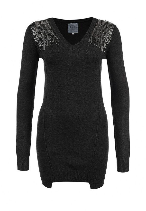 Платье Fracomina Цвет: серый. Сезон: Осень-зима 2013/2014. С бесплатной доставкой и примеркой на Lamoda. http://j.mp/1pDbnaM