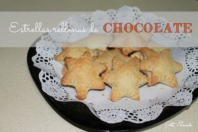 Receta: Estrellas rellenas de chocolate.