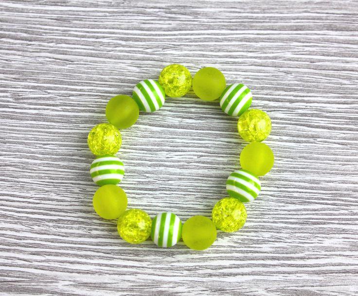 Teesh Sparkle and Stripes Bracelet Green