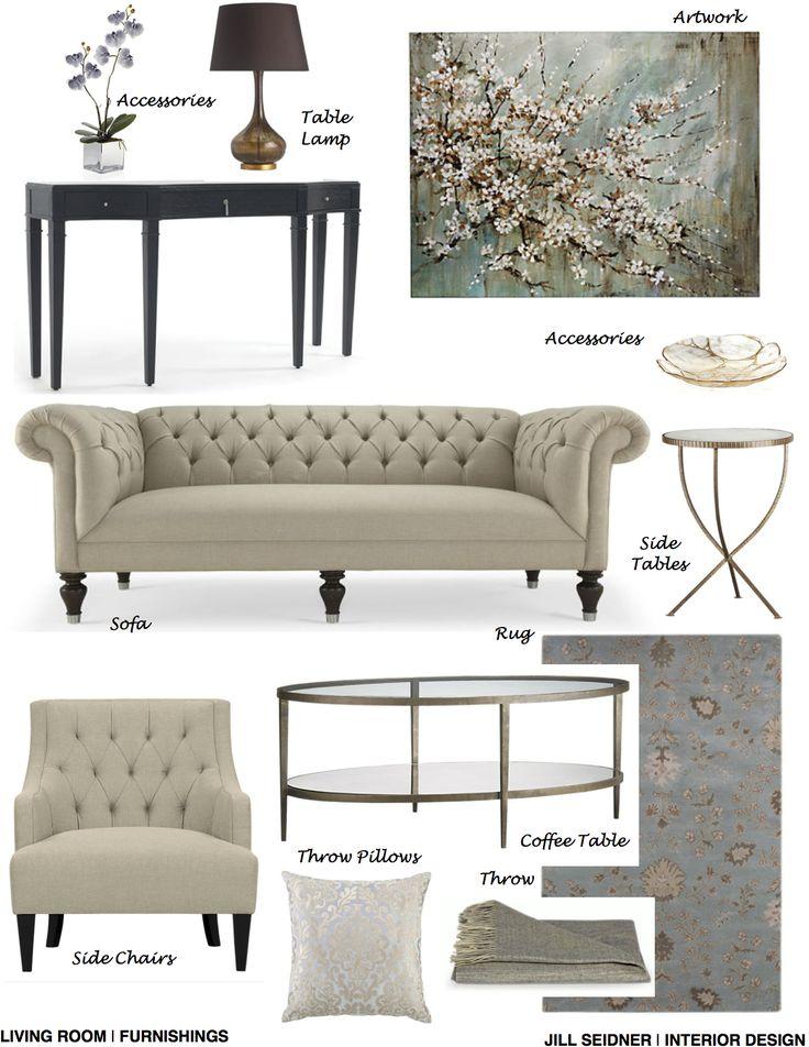 Arcadia Ca Online Design Project Living Room Furnishings Concept Board Www Jsinteriordes