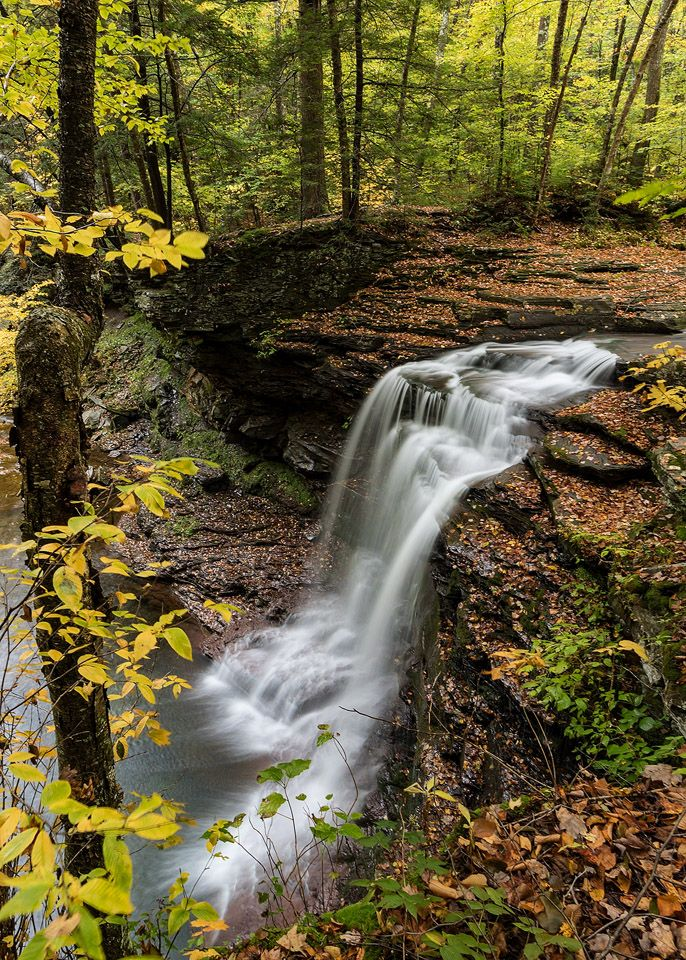 Lewis Falls on State Game Lands 13 in Sullivan County, PA  A long