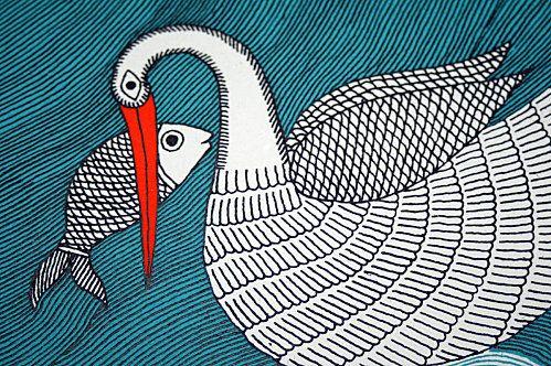 Gond - bird & fish