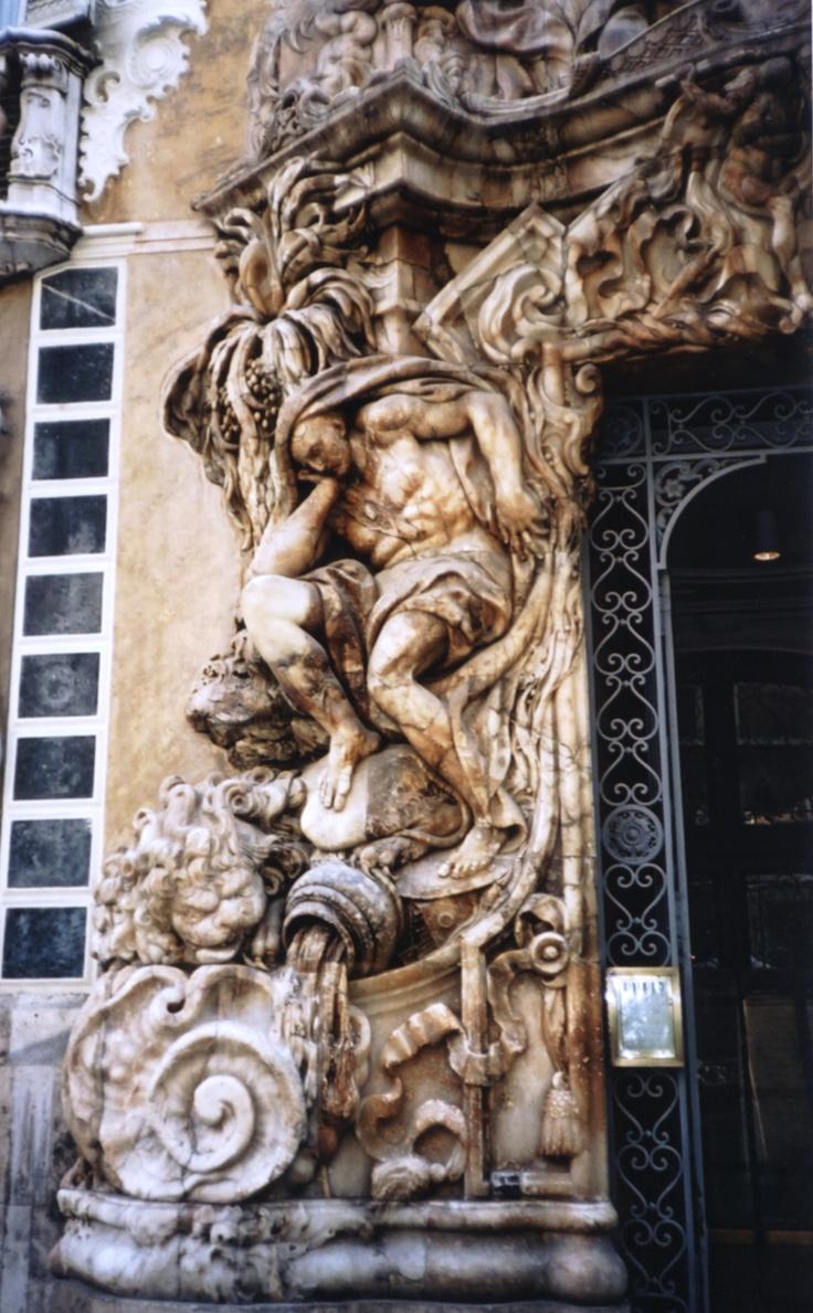 Carved doorway surround in Valencia