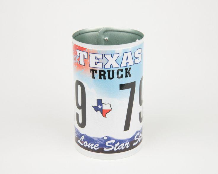 Texas License Plate Pencil Holder - Texas Souvenir - Father's Day gift Idea - Texas Teacher Gift idea - Texas Gift Idea