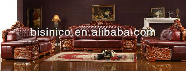 Bisini Luxury New Classical hand carved Sofa Set|Solid Wood,Genuine Leather living room furniture, View leather living room furniture, BISIN...
