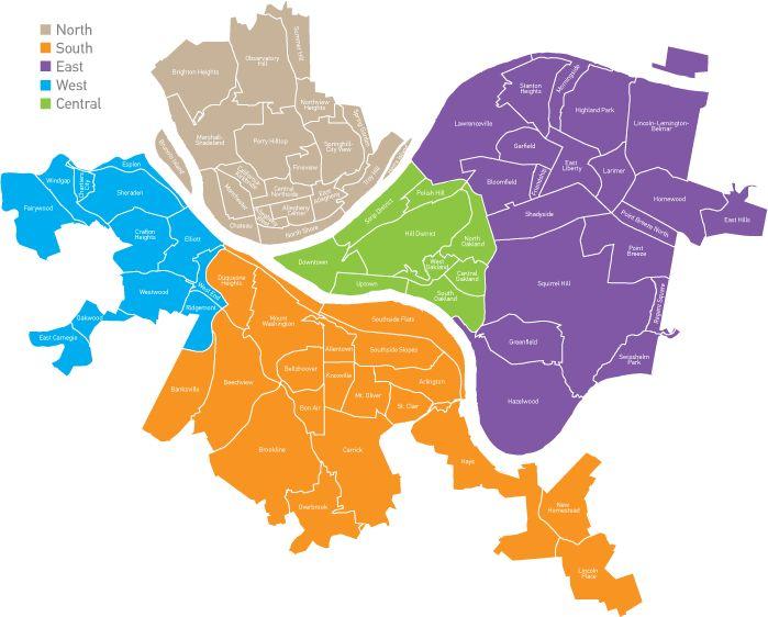 Pittsburgh Neighborhood Map                                                                                                                                                                                 More