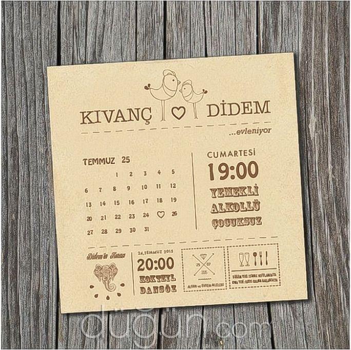 Adam & Avva - İstanbul Düğün Davetiyesi
