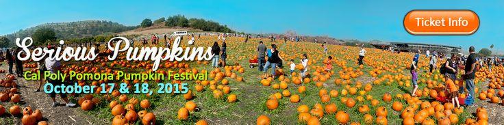 CalPoly Pomona 23rd Annual Pumpkin Festival  October 17 & 18, 2015