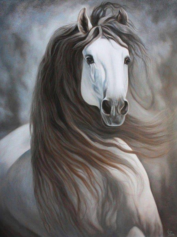 Pintura Moderna al Óleo: Cuadros de caballos pintados en óleo
