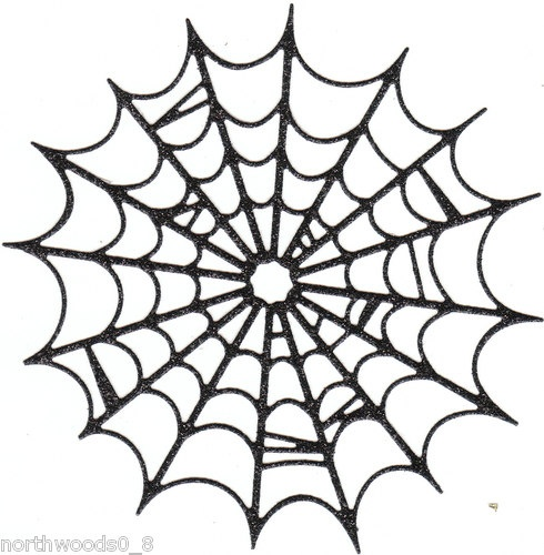 "WEB BLACK SPARKLE HALLOWEEN LARGE DIECUT ORNAMENT PAPER CRAFT DIY COLLAGE SPIDER | eBay...done by my friend Susan!!!  Please visit Top-rated seller northwoods0_8, or her store ""Ink on My Hands""!!!"