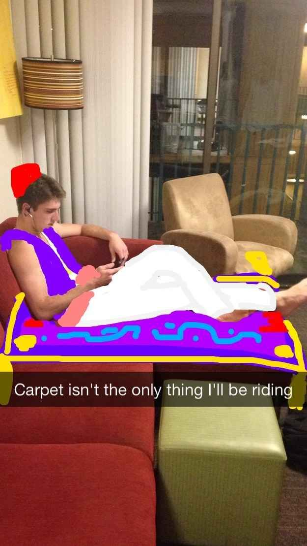 Aladdin from Aladdin | Student Turns Roommate Into A Variety Of Disney Characters On Snapchat: